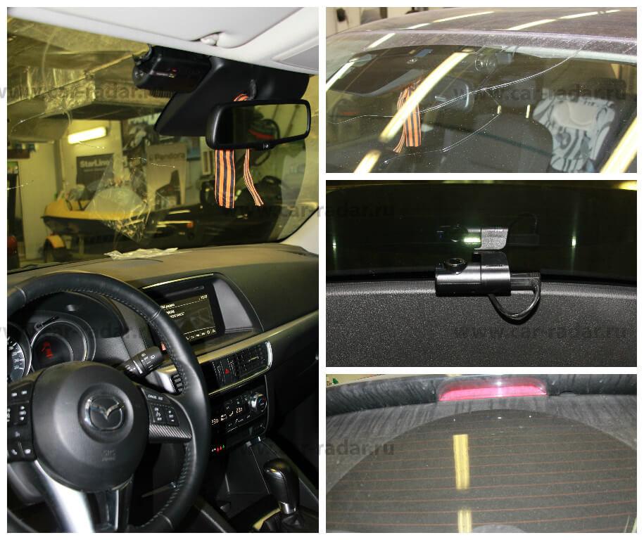 Установка Thinkware Dash Cam F770-2CH в Mazda CX5