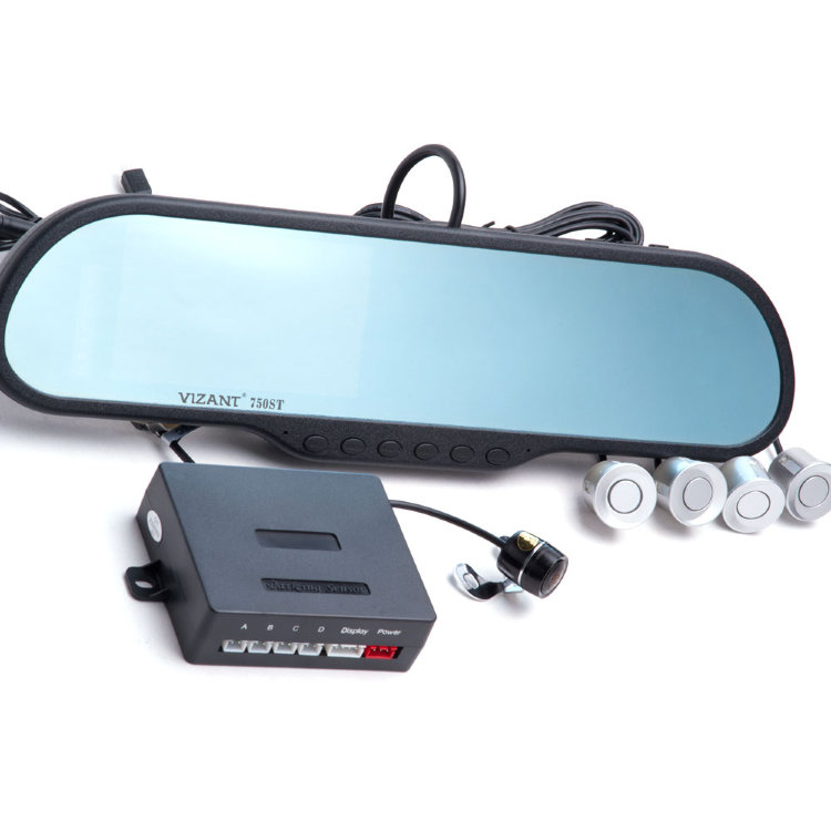 Видеорегистратор и радар детектор в зеркале